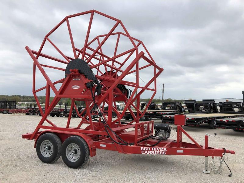 2019 Red River Carrier Poly Pipe Reel Trailer