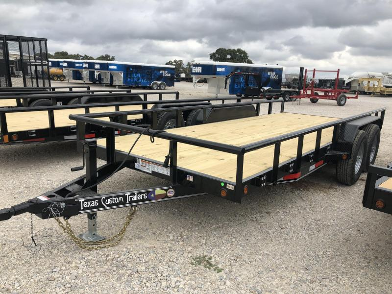 "2020 East Texas 83"" X 18' 12K Equipment Trailer"