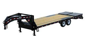 2020 PJ Trailers 25' Low-Pro Flatdeck with Singles Flatbed Trailer