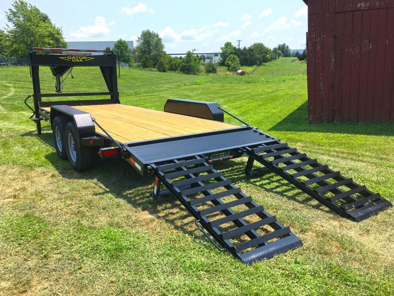 2020 Gatormade Trailers 18'+2' Low Pro Elite Gooseneck 20K Flatbed Trailer