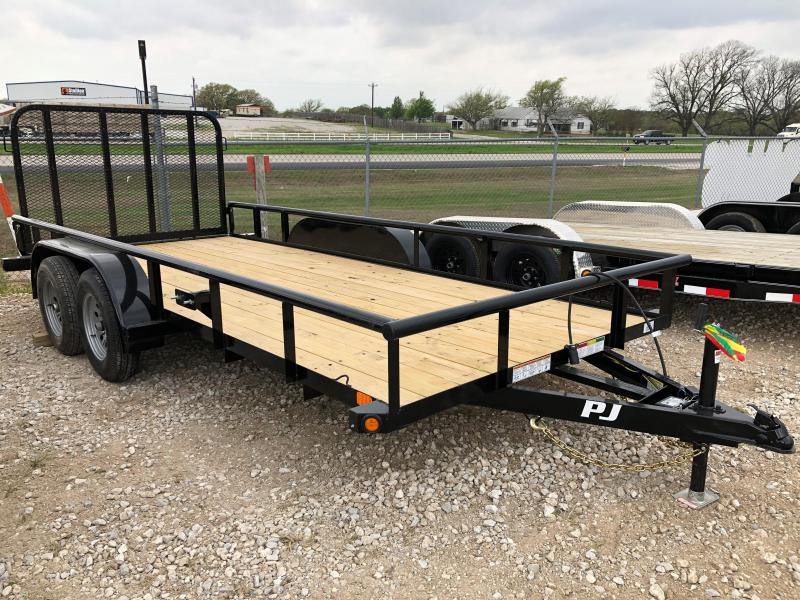"2020 PJ Trailers 16'X77"" Angle Tandem Axle Utility Trailer"