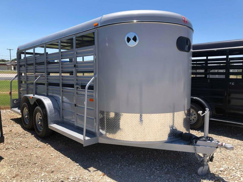 2020 W-W Trailer 16'X6' All Around Livestock Trailer