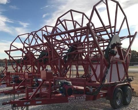 ***USED*** 2018 Red River Carrier Poly Pipe Reel Trailer
