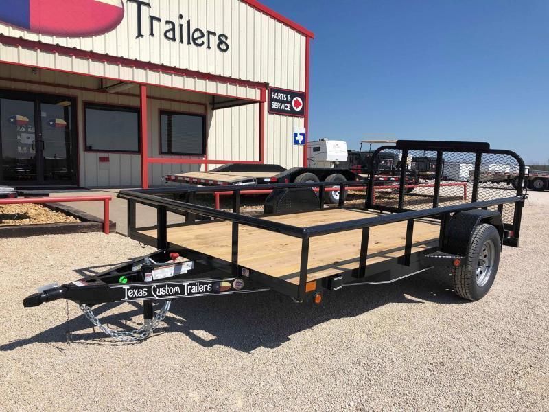 "2020 East Texas 77""X12' Single Axle 3K Utility Trailer"