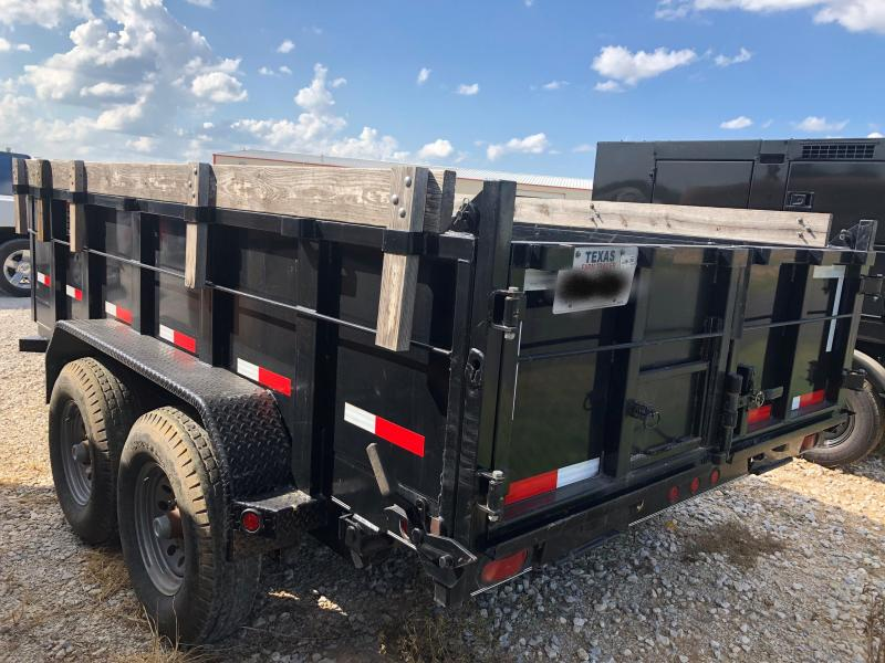 "2012 (Used) Parker Trailers 72""X12' Hydraulic Dump Trailer"