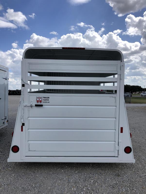2020 W-W Trailer 14'X6' Wrangler 2 Horse/Livestock Combo Trailer