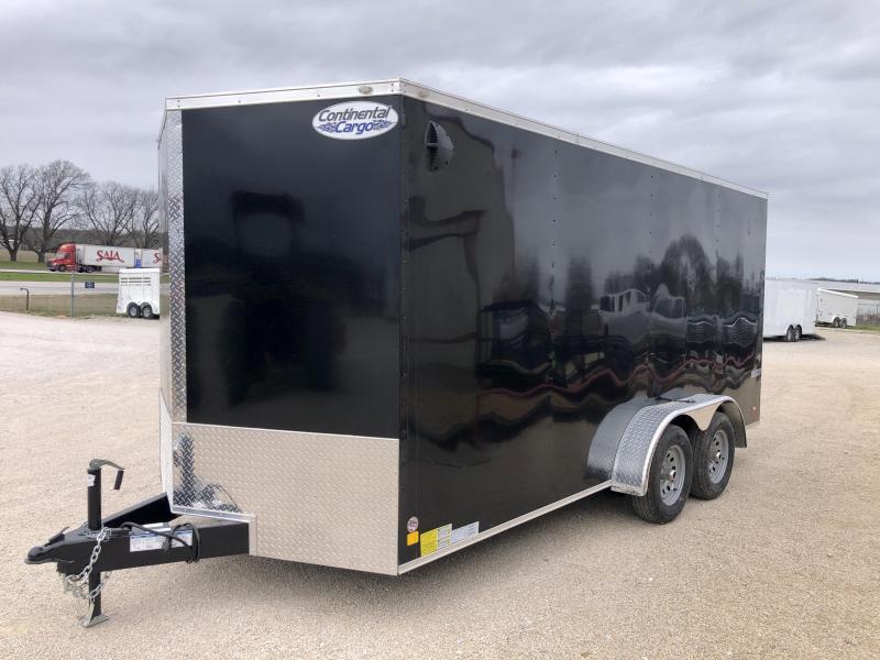 2020 Continental Cargo 7'X16' Enclosed Cargo Trailer