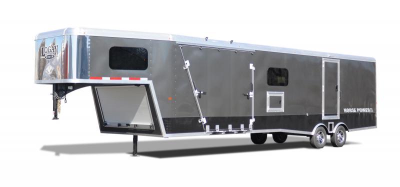 2020 Logan Coach 29' ZBROZ GN HorsePower Snowmobile Trailer