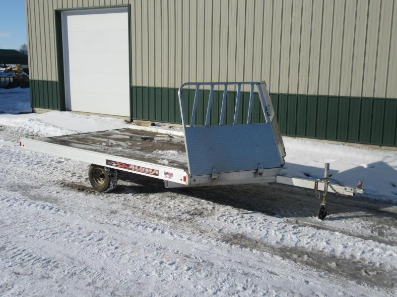 2015 Aluma 12' 2-Place Snowmobile Trailer