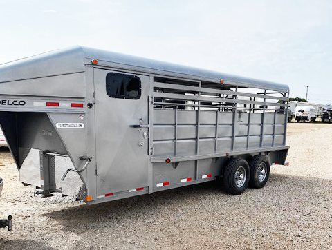 2020 Grey 20' Delco Stock Trailer