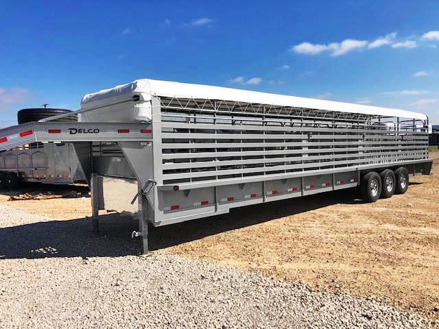 2019 Delco Trailers 36 ft Bar Top Livestock Trailer