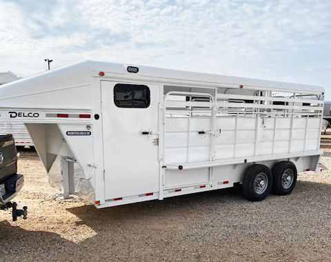 2020 White 20' Delco Stock Trailer