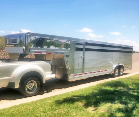 2020 24' EBY Ruff Neck Final Drive Livestock Trailer