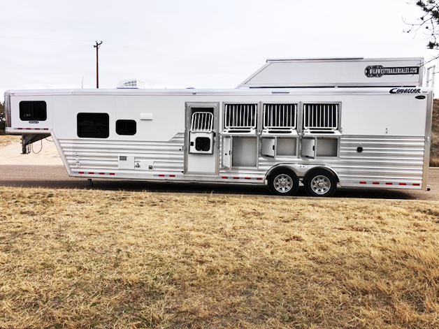 2020 Cimarron Trailers Living Quarters Horse Trailers Horse Trailer