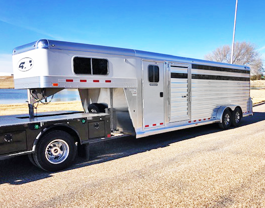 4 Star 24' Cowboy Tack Stock Trailer