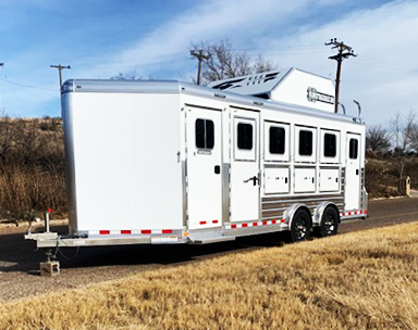 2020 4-Star 4 Horse Smart Tack Horse Trailer