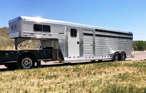 2021 4-Star Cowboy Tack Stock Trailer
