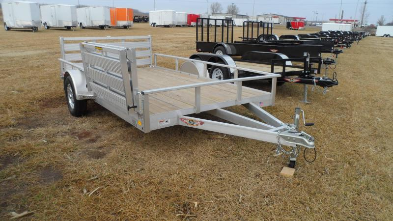 2018 H&H Aluminum Utility 8.5x12 Rail Side