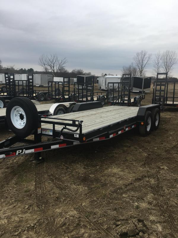 2018 PJ Trailers 20 X 6 CHANNEL EQUIPMENT 14K 2' DOVETAIL FOLD- Equipment Trailer
