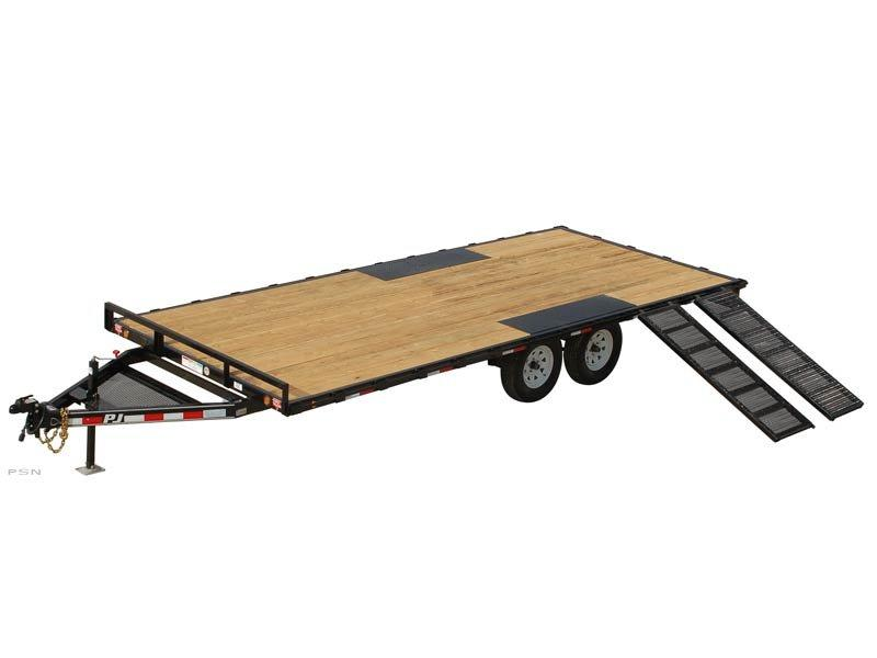 2019 PJ Trailers Light Duty Deckover 5 in. Channel (L5) Flatbed Trailer
