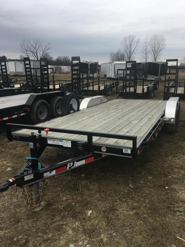 2018 PJ Trailers 20 X 83 PJ EQUIPMENT 2-5.2K 2' DOVETAIL W/ 2 F Equipment Trailer