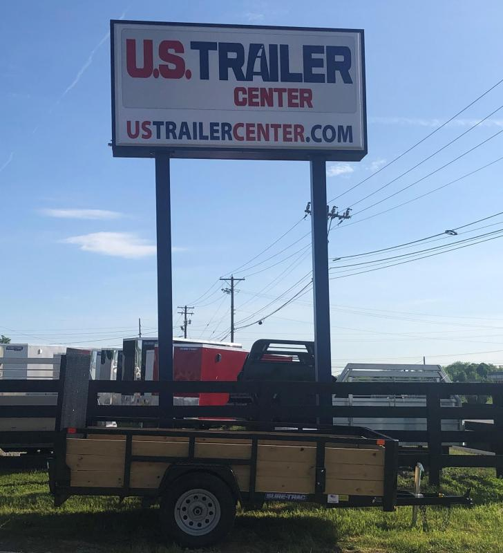 2019 Sure-Trac 6 X 10 Tube Top Three Board UTILITY TRAILER LAWN CARE TRAILER LANDSCAPE TRAILER
