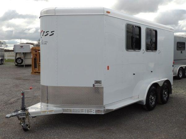 2019 Exiss 720 BP Horse Trailer w/ Rear Tack and Easy Care Flooring!