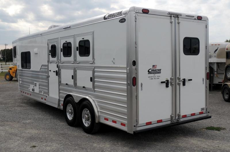 "2020 Cimarron 10 8"" Outback Customs 3 Horse Trailer"