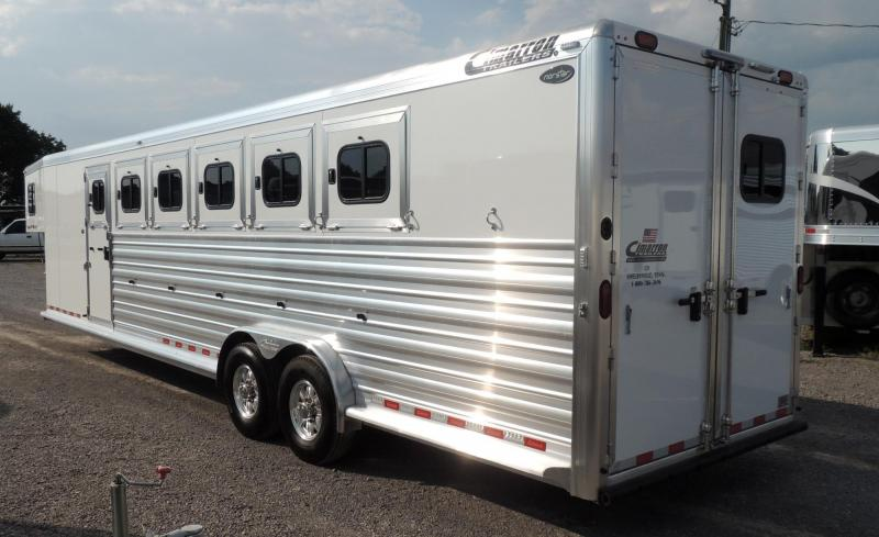 "2020 Cimarron Trailers 6 Horse -- 7'6"" Wide -- Double Door Tack Horse Trailer"