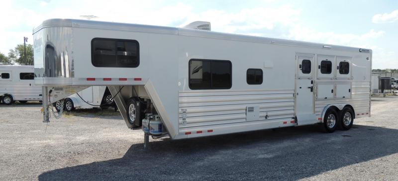"2020 Cimarron Trailers 12 8"" Outback Customs 3 Horse Trailer"