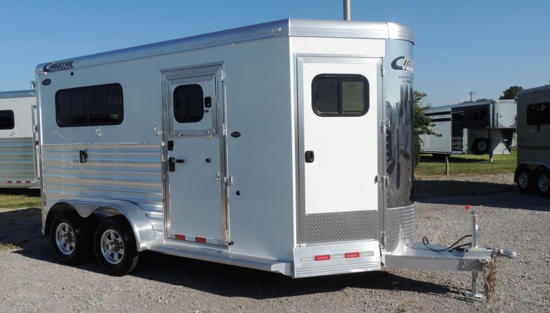 2020 Cimarron Trailers 2 Horse Straight Load XL Stalls Horse Trailer