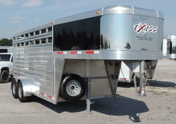 2019 Exiss STK 6816 GN Stock Trailer w/ Easy Care Flooring!