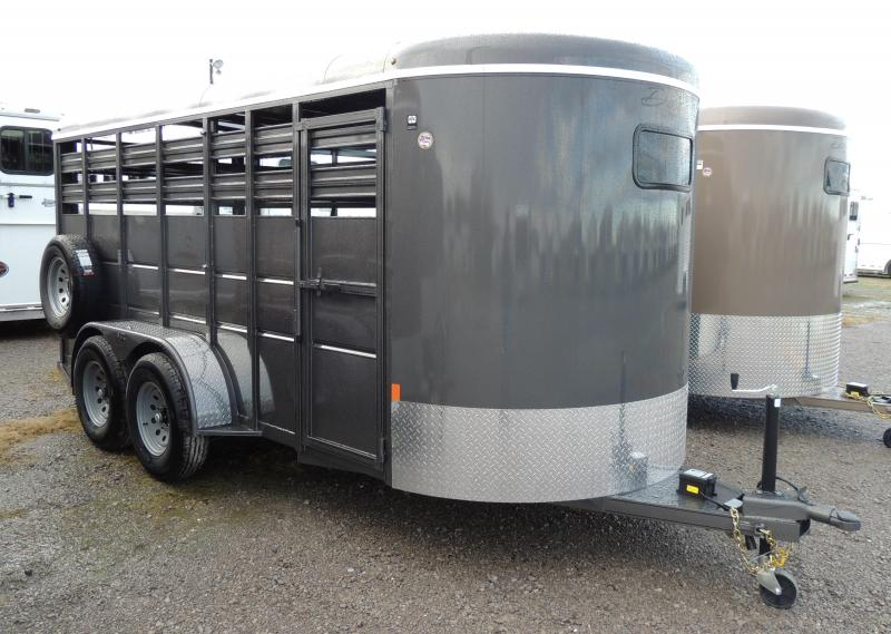"2020 Delta Manufacturing 500 Series 16' x 6'6"" Tall Livestock Trailer"