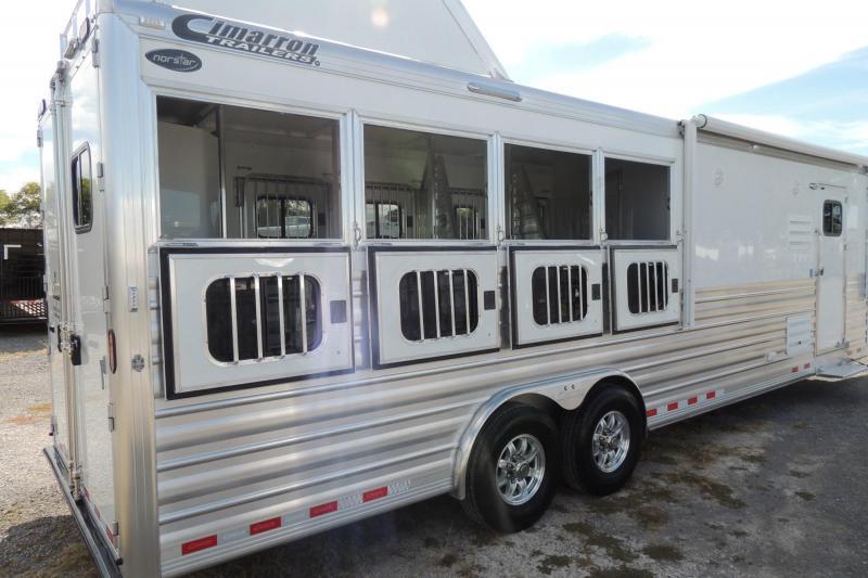 "2020 Cimarron Trailers 10 8"" Outback Customs 4 Horse Trailer"