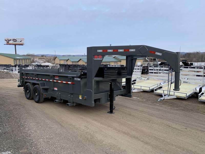 2020 B-B 83X16 Gooseneck Dump Trailer