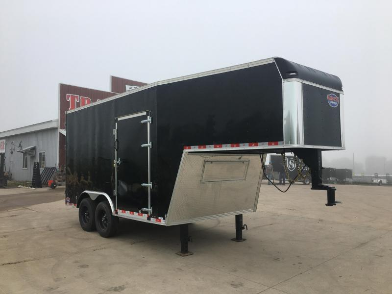 2020 Closeout Trailers 8.5X22 United Trailers Gooseneck Enclosed Cargo Trailer