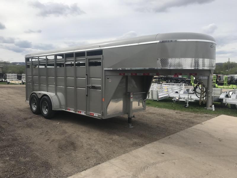 2019 Delta Manufacturing 6X16 Gooseneck Livestock Trailer