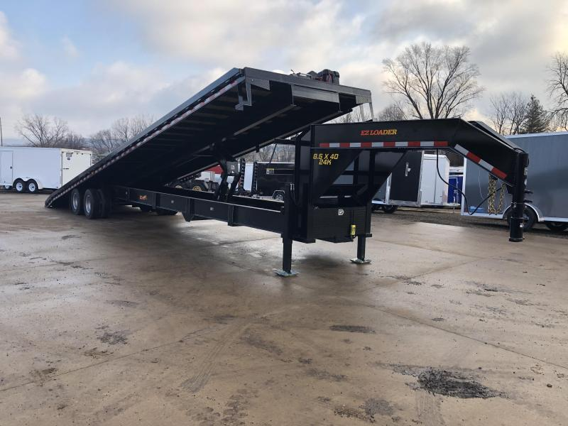 2019 Closeout Trailers 102X40 Doolittle Trailer Mfg Gooseneck Tilt Deck Equipment Trailer