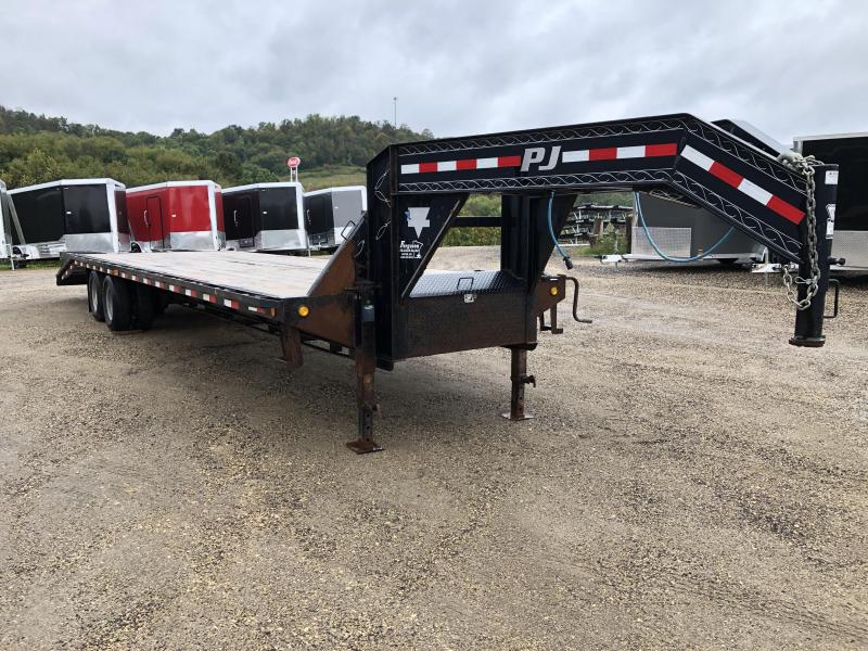 2013 PJ Trailers 102X32 Gooseneck Deckover Equipment Trailer