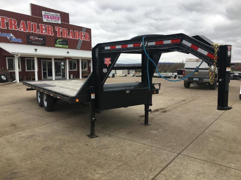 2019 PJ Trailers 102X22 Gooseneck Power Tilt Equipment Trailer