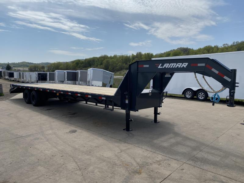 2020 Lamar Trailers 102X32 Gooseneck Deckover Equipment Trailer