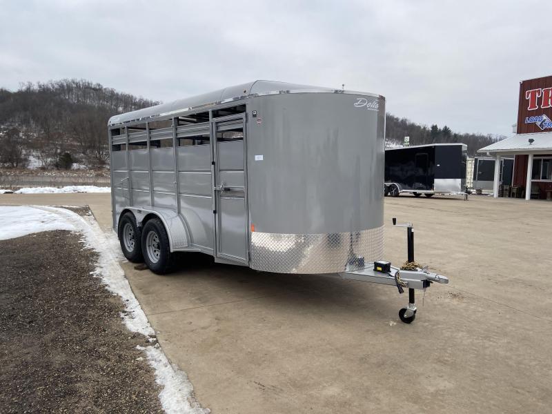 2020 Delta Manufacturing 6X16 Livestock Trailer