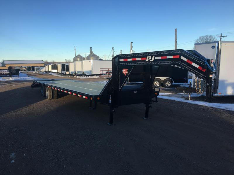 2019 Closeout Trailers 102X32 PJ Trailers Gooseneck Deckover Equipment Trailer