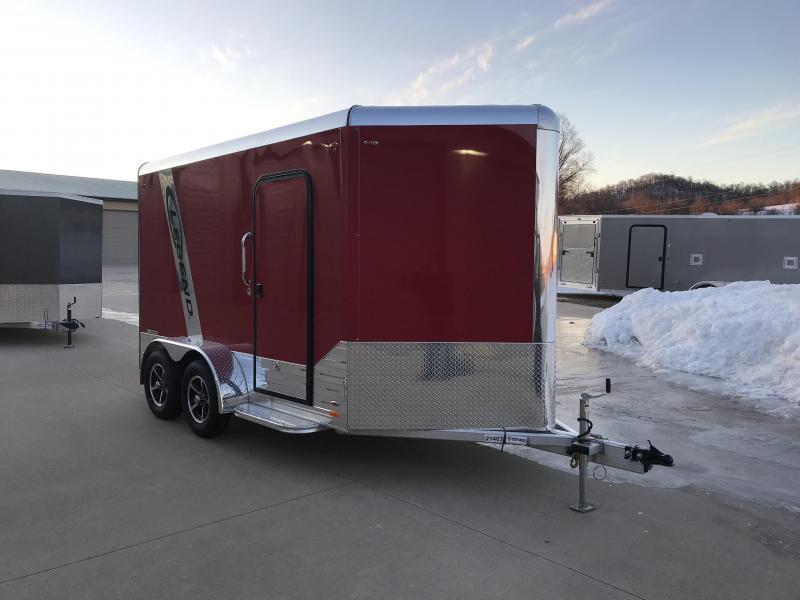 2019 Legend Manufacturing 7X12 DVN Aluminum Enclosed Cargo Trailer