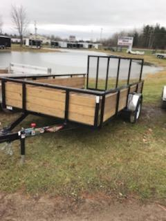 """2020 H and H Trailer 82"""" x 14' Steel Utility Trailer"""