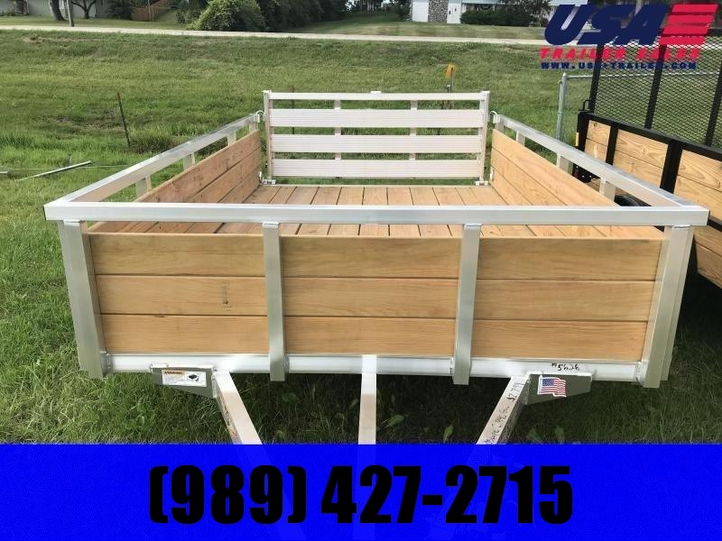 2020 H and H Trailer Aluminum 6x12 WOODSIDE Landscape