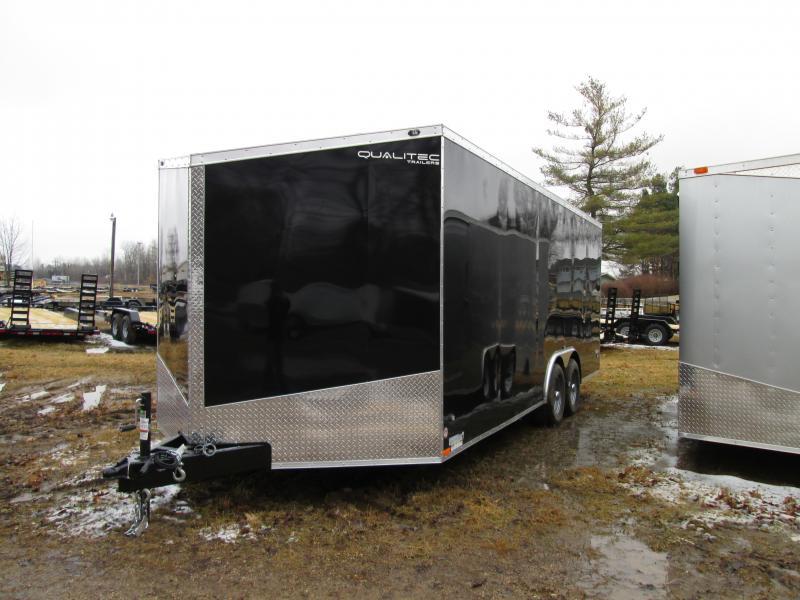 2019 Qualitec 8.5 x 24 Black Ramp Car / Racing Trailer