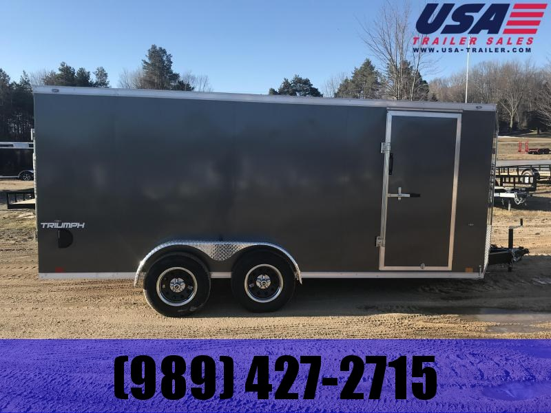 2020 Formula Trailers 7X16 RAMP CHARCOAL Enclosed Cargo Trailer