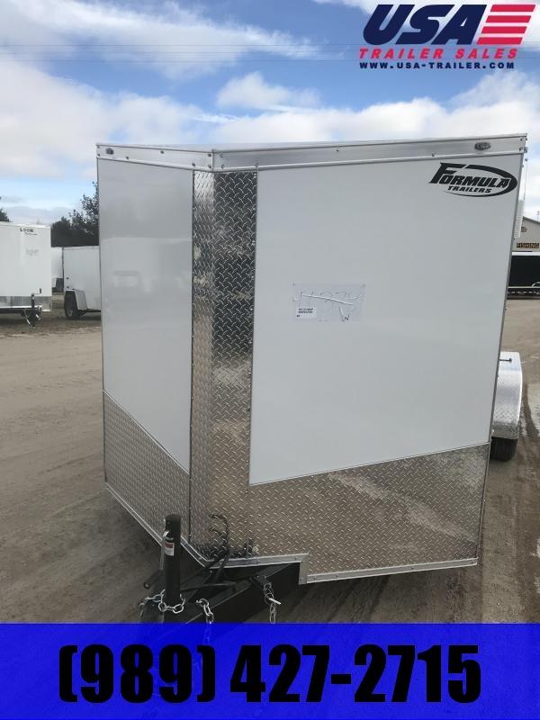 2019 Formula Trailers 7x16 White Ramp Enclosed Cargo Trailer