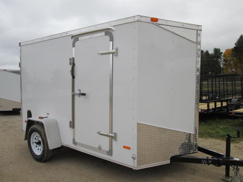 MTI Trailers 5x10 White Ramp Enclosed Cargo Trailer